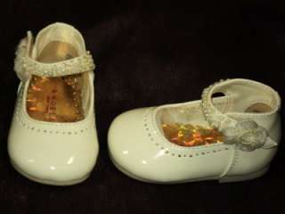 Baby Girl Ivory Beige Leather Dress Shoes/Wedding/235/SZ 2 3 4 5 6