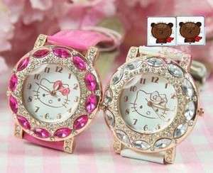 NEW Hellokitty Luxury Women RhineStone Wrist Watch Quartz ladies