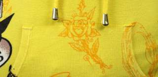 Ed Hardy Skull roses Dagger heart Yellow Sweater shirt