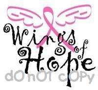 Nail Decals *Set of 20* WINGS OF HOPE BREAST CANCER