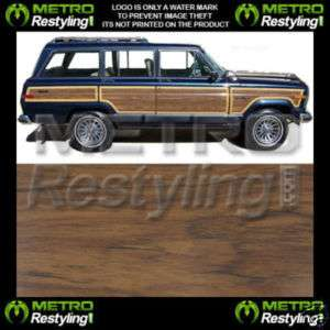 New Jeep Grand Wagoneer Wood Grain Panel Vinyl 87 88 89