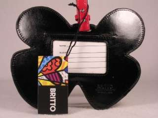 Romero Britto Backpack or Luggage Tag LARGE Butterfly NWT
