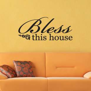 BLESS THIS HOUSE Wall Quote   Custom Decor Vinyl Decal