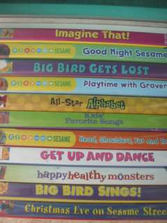 10 Huge LOT Sesame Street Educational Brand NEW DVD SET