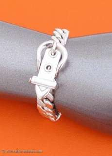 AUTHENTIC HERMES BRACELET BOUCLE SELLIER STERLING SILVER 925