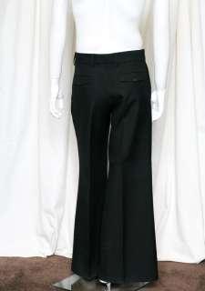 CHRISTIAN DIOR HOMME Mens Black Extra Wide Bell Leg Trouser Dress