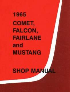 MERCURY 1965 COUGAR, Comet, Caliente Shop Manual 65