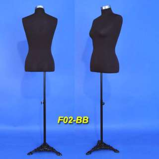 Brand New Black Female Mannequin Dress Form F02 BB