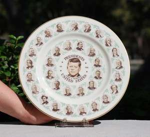 Antique Presidents of the United States Collector Plate JOHN F KENNEDY