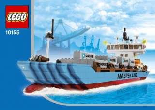 Lego 10155 Maersk Line Container Ship New In Factory Sealed Box