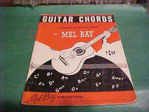 1959 GUITAR CHORDS PHOTO DIAGRAM FORM BOOK BY MEL BAY