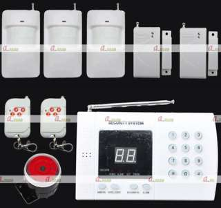 Wireless Home Security System Burglar Alarm Auto Dialer DIY Kit