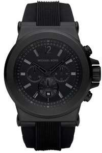 Michael Kors Watch Mens Black Silicone Strap MK8152