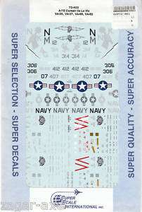 72 SuperScale Decals A 7E VA 25 VA 27 VA 66 VA 82 |
