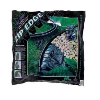Edge 20 ft. Recycled Plastic Landscape Lawn Edging with Sod Pins Black