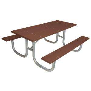 Ultra Play Commercial Park 6 ft. Recycled Plastic Table  Portable and