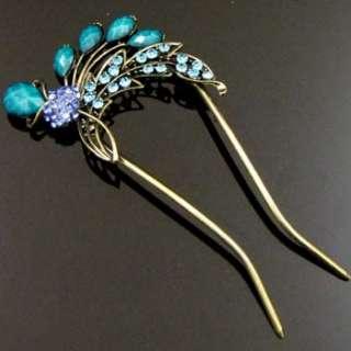 ADDL Item  1 AUSTRIAN rhinestone crystal Antiqued flower