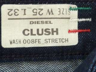 NWT Diesel Clush Black Stretch Jeans Size 25 $170 Italy