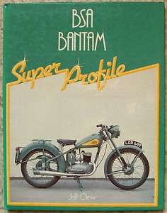 BSA BANTAM Motorcycle Super Profile Book 1983 Jeff Clew |