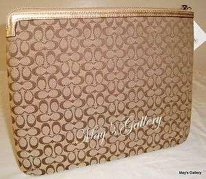 Coach Briefcase Handbag Purse Wallet Laptop Case Ipad Tablet Sleeve