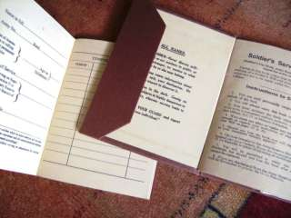 Repro WW2 British Army Service Book AB64 Part 1 & 2