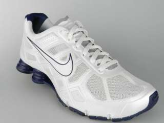 NIKE SHOX TURBO+ 12 NEW Mens White Blue iPod Ready Running Shoes Size