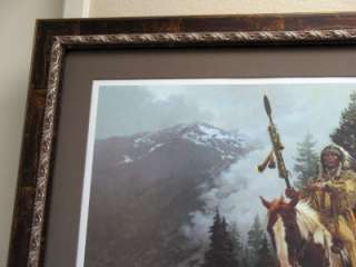 Chuck Ren WIND RIDER Native American art EXTREMELY RARE |