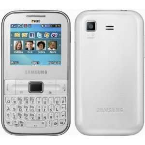 Handy Samsung C3222 Ch@t322 Duos Dual Sim Pure White QWERTY Ohne