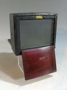 Vintage Wood Wooden Conley 4 X 5 Camera With Red Bellows & Brass Lens