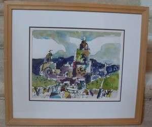Henry Fukuhara Watercolor Large Framed