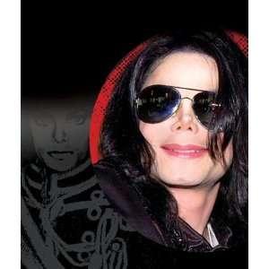 Original Michael Jackson Perücke und Sonnenbrille