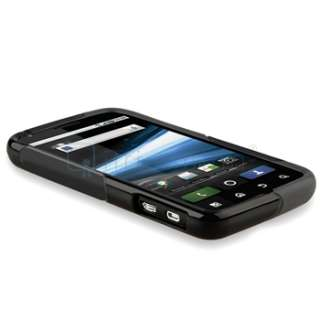 For Motorola Atrix 4G MB860 Black+White TPU Skin Cover Case+Screen