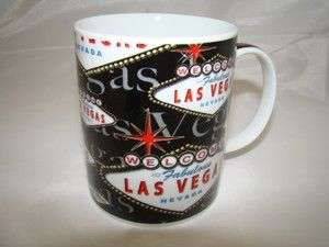 Welcome To Las Vegas Sign Black Coffee Mug 11 ounce