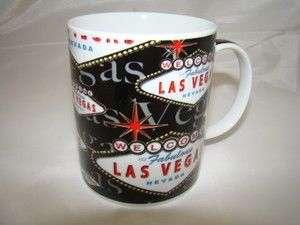 Welcome To Las Vegas Sign Black Coffee Mug 11 ounce