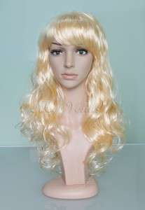 Multicolor Long Wavy Curly Sexy Woman Full Wig Wigs Synthetic Hair