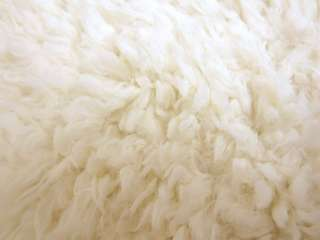 Ivory FAUX LONG FUR SKIN PILLOW PILLOW/CUSHION/THROW COVER*CUSTOM SIZE