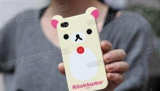 2x Relax Rilakkuma Bear Cute Case Cover Skin iPhone 4