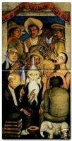 Diego Rivera Mexican Art Ceramic 2 Tile Set The Learned
