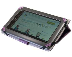 NOOK COLOR PREMIUM PURPLE 3 WAY LEATHER STAND JACKET