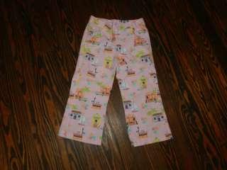Girls Hartstrings Pink Sailboats Bicycle Pants Size 8