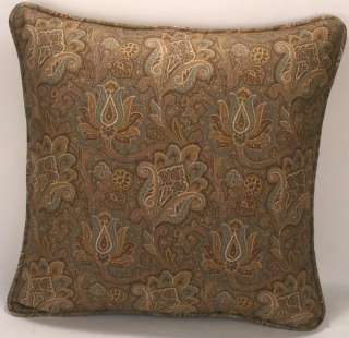18 Highgate Camel Indoor/ Outdoor Fabric Designer Throw Pillows
