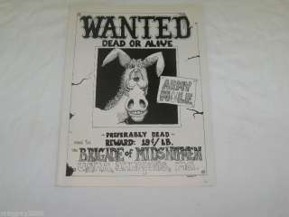 Vintage 1969 Army/Navy Cartoon Ad   Wanted Army Mule