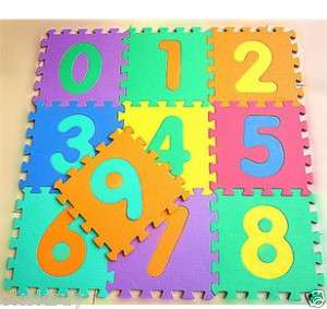 10Pc Foam NUMBER Puzzle Floor Mat child TOY 17CM 6.6