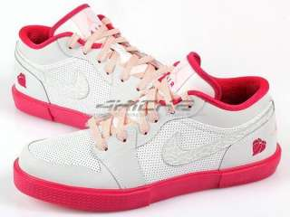 Nike Girls Air Jordan Retro V.1 GS White/Pink Cherry Valentines Day