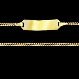 GOLD 333 Taufarmband Gravur Gratis Armband Panzerkette
