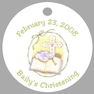 CHRISTENING BAPTISM * 20 Personalized Favor Gift Tags
