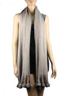 Long Pom Soft Balls Mix Cashmere Wool Winter Scarf Shawl Wrap Stole
