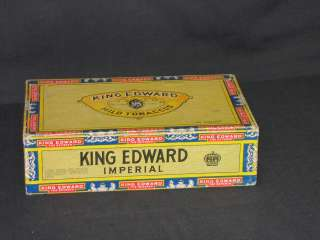 King Edward The Seventh empty Vintage Cigar Box Great Condition