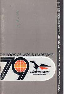 1979 JOHNSON OUTBOARD 25 & 35 HP OWNERS MANUAL
