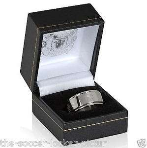 Manchester United FC Official Product Mens Ring Spinning Crest